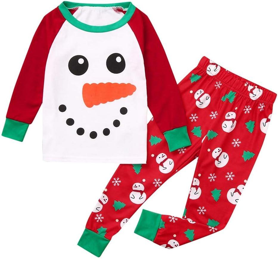 Pijama de la familia Hunpta con diseño de muñeco de nieve y ...