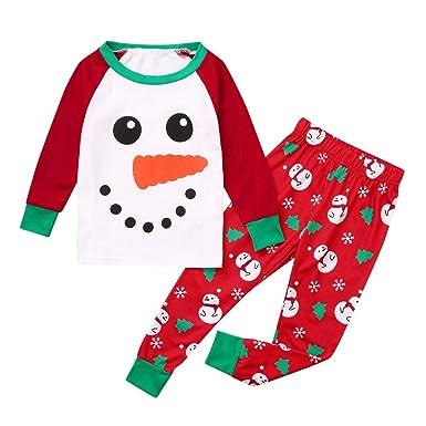 Niño Navidad Muñeco Nieve Ropa Niñas Unisex Casa Pijama Bebe ...