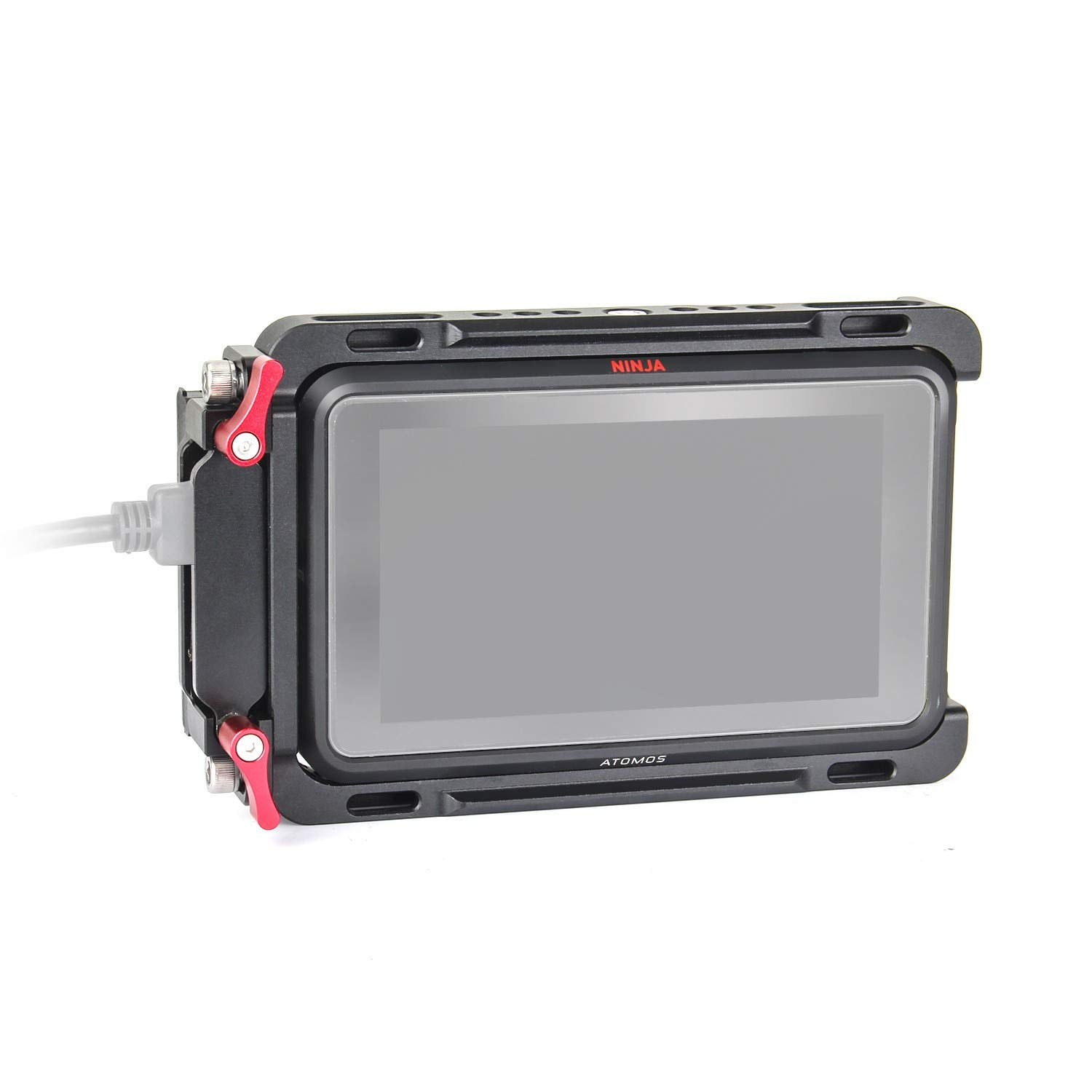 EachRig Monitor Cage, with Built-in NATO Rail and Extra HDMI Cable Clamp for Atomos Monitor Ninja V