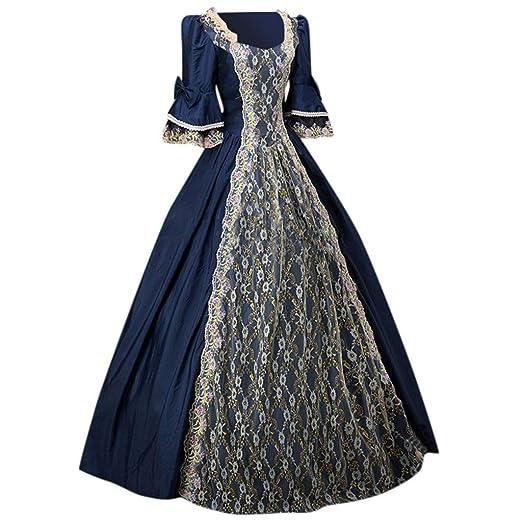 OPAKY Vestidos De Fiesta Gótico Mujeres Vestidos Medieval ...