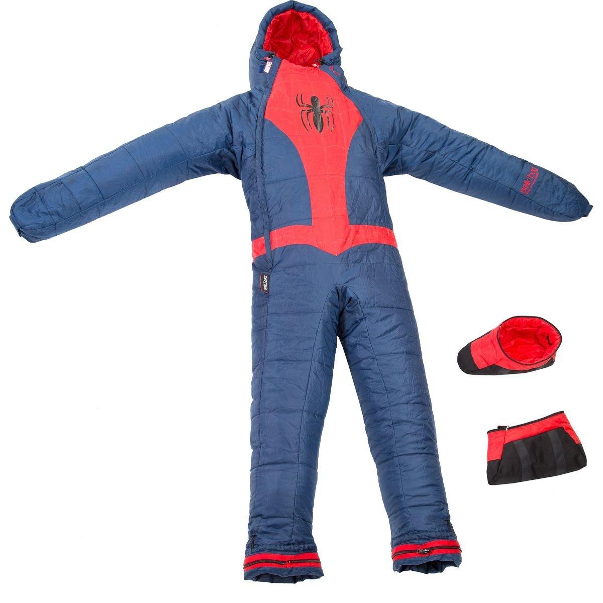 Selk'bag Youth Marvel Spider Man Sleeping Bag, Blue, Medium B015JPB3PQ