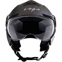 Vega Verve Dull Anthracite Motorsports Helmet, Medium (Multicolour, VRVda)