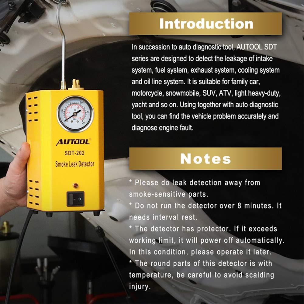 Autool SDT-202 - Detectores de Fugas de Combustible con manómetro (12 V): Amazon.es: Coche y moto