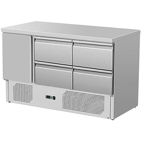 Zorro - kühltisch ZS 903 4d - 1 puerta - 4 cajones - Gastro Salad ...