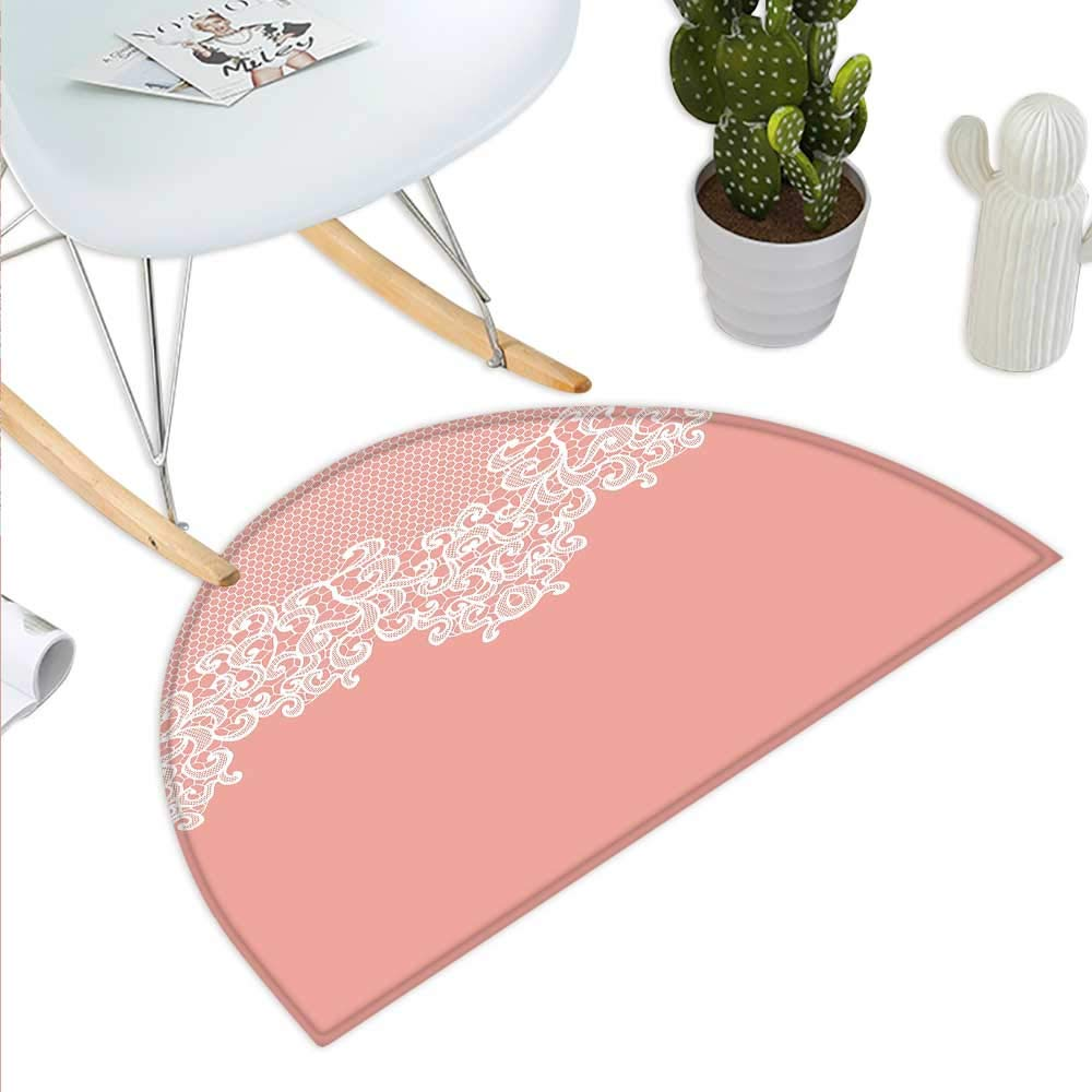 color15 H 31.5  xD 47.2  Pastel Semicircle Doormat Watercolor Bouquet of pinks Romantic Artistic Corsage Design Bridal Wedding Flora Halfmoon doormats H 27.5  xD 41.3  Multicolor