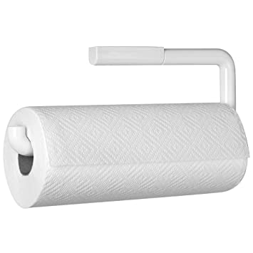 Amazon Com Mdesign Paper Towel Holder For Kitchen Wall Mount