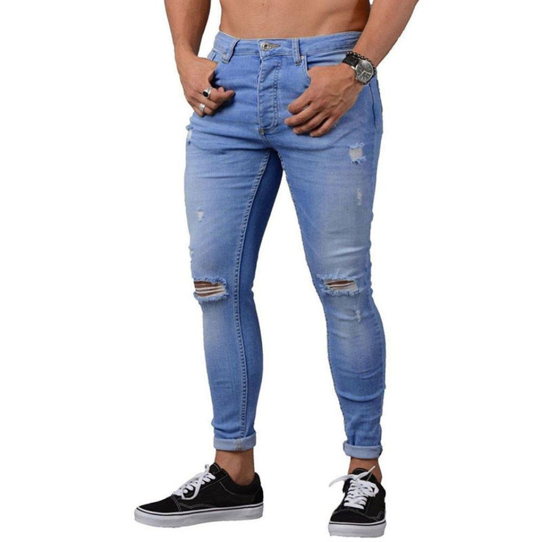Pantalones vaqueros hombres rotosSonnena Hombres Pantalones rasgado ... 6a124ce8087