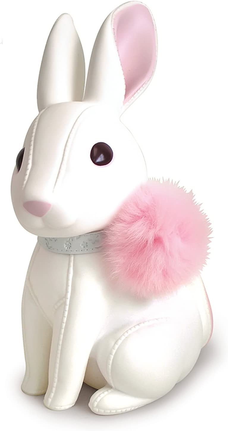 Cute Rabbit Piggy Bank, White Rabbit Bank Toy Coin Bank Decorative Saving Bank Money Bank Adorable Rabbit Figurine for Boy Girl Baby Kid Child Adult Rabbit Lover by DomeStar