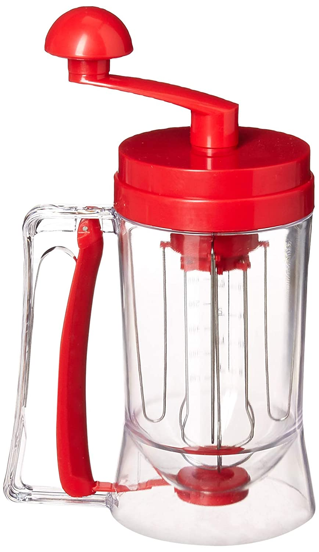 Costzon New Manual Pancake Batter Dispenser Perfect Cupcakes Waffles Mixer Mix Breakfast