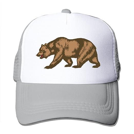 b2076a99603e8 Amazon.com: California Republic Golden Big Bear Ash Mesh Unisex Adult-one  Size Snapback Trucker Hats (6234157033404): Books
