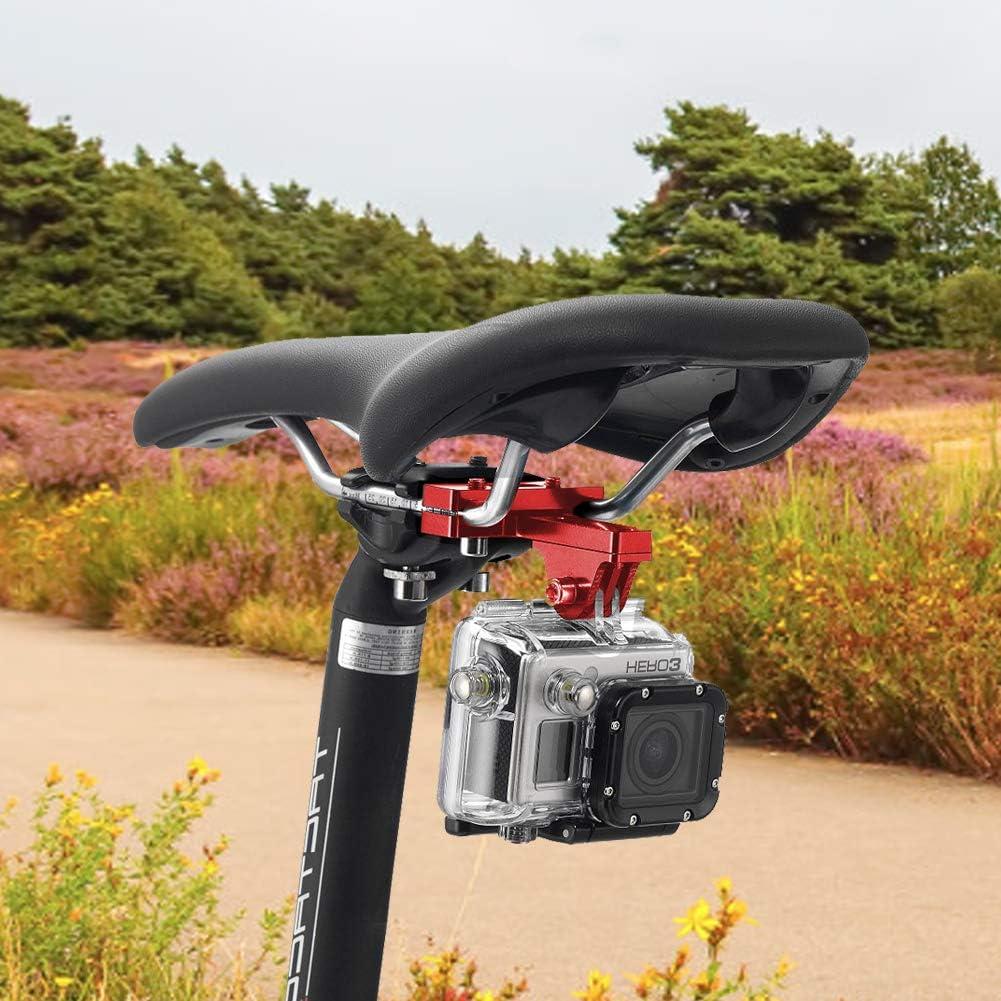 360 Degree Rotation Aluminium Bike Handlebar Holder Bicycle Rack Adjuster for Action Camera DJI Xiaoyi CASIO Black ParaPace Mountain Bike Mount for GoPro Hero 8//7//6//5s//5//4s//4//3+