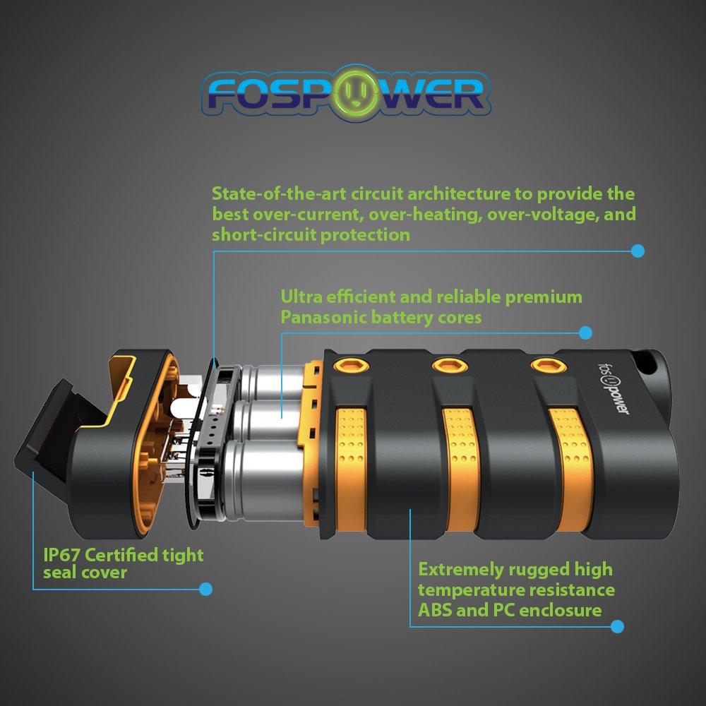 FosPower POWERACTIVE 9,000mAh Heavy Duty Water &: Amazon.in: Electronics