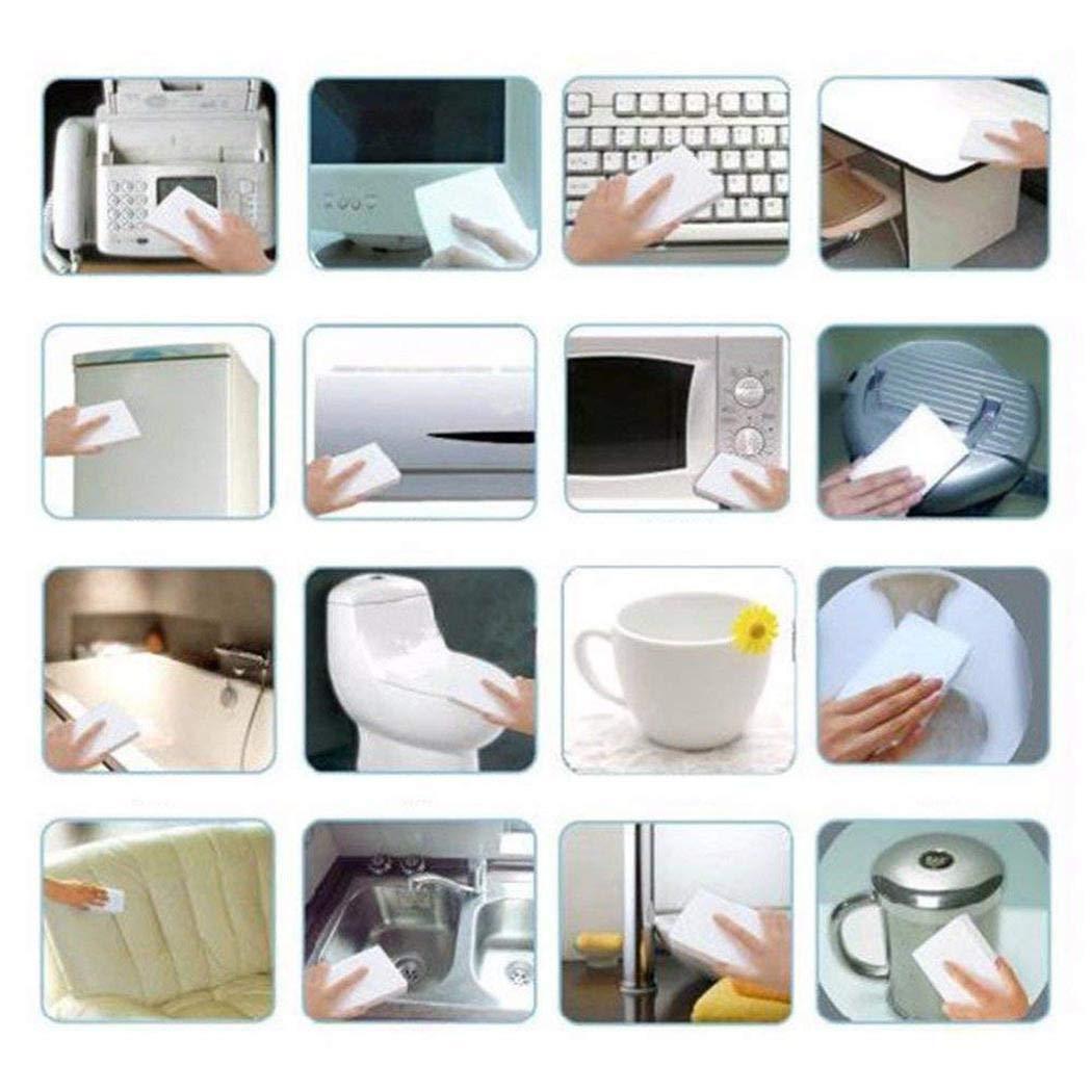 mekolen 100 Pezzi Strumento di Pulizia Multifunzionale della Cucina Domestica di Eraser Cleaner della Cucina della Casa Spugne