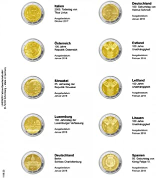 Hoja pre-impresa 2 euros cronologico: Italia 10/2017 - España 02 ...