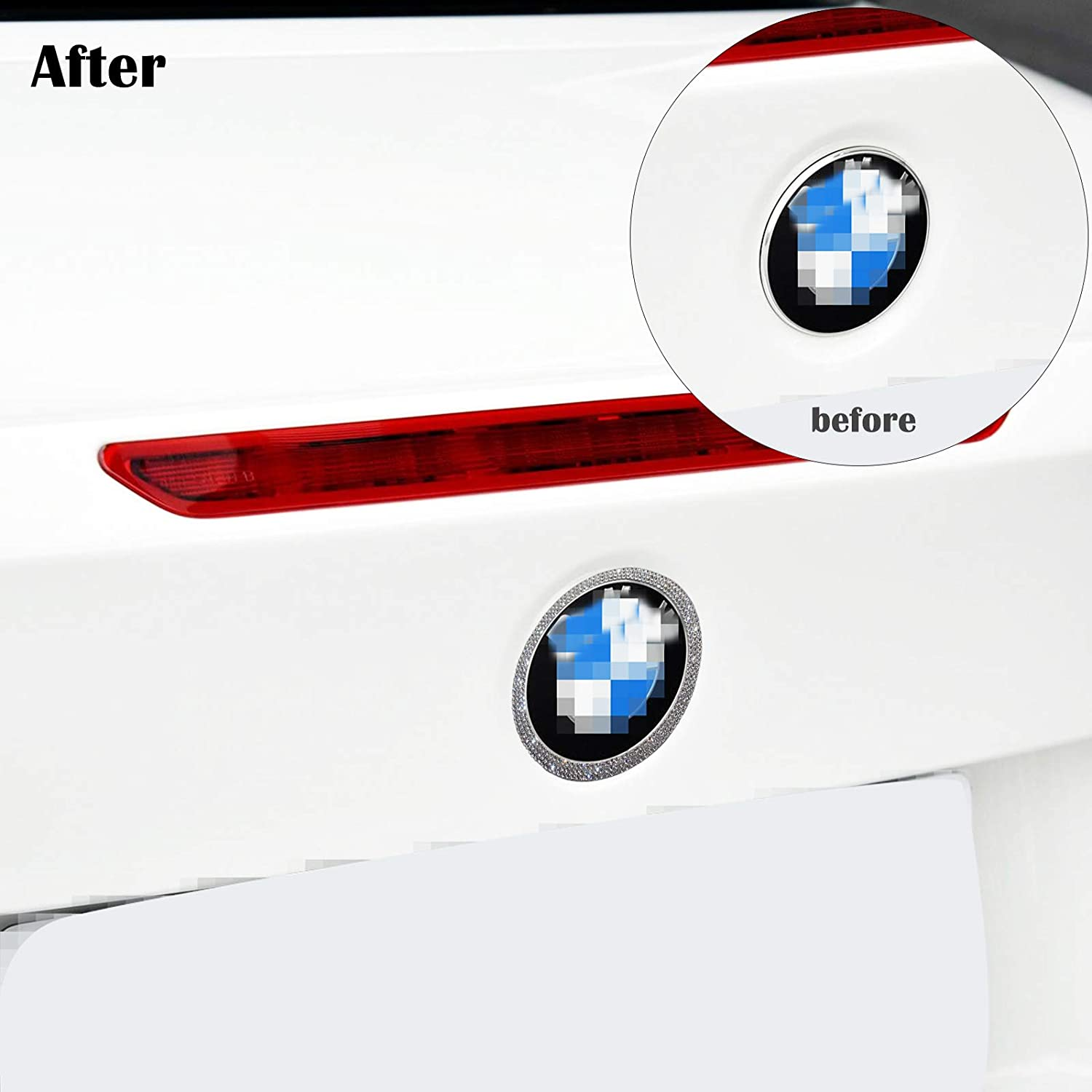 YaaGoo Out Side Emblem Decal Sticker Bling Crystal for BMW1 2 7 3 3GT 4 5Series X1 X3 X4 X5 X6,Front
