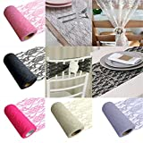 UNKE Wedding Home Lace Roll Ideal For Table Runner, Chair Sash, Vintage Style Decoration