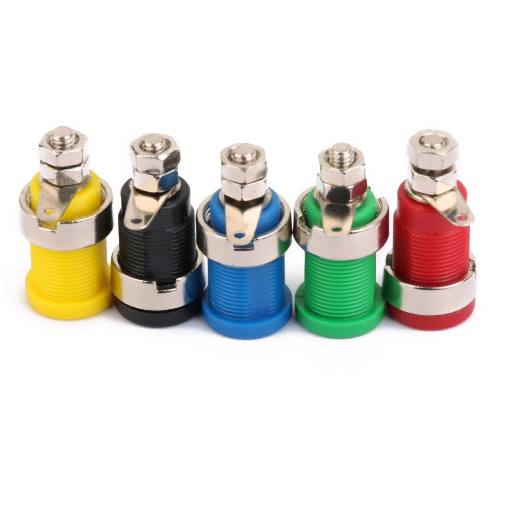 4mm Aislados Conectores Hembra De Banana Nuevos 5pcs Cinco Colores Generic STK0114013011