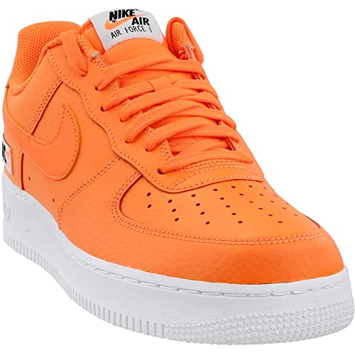 premium selection 4dc97 fd0bc Nike Men s Air Force 1  07 Lv8 JDI Leather Gymnastics Shoes, Total Orange