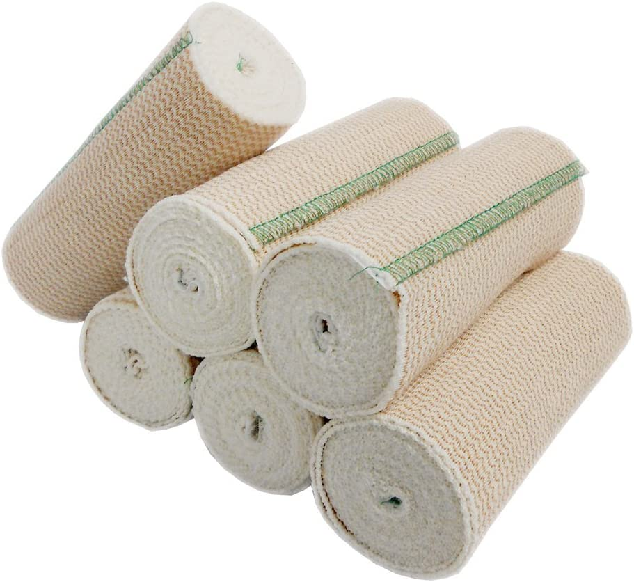 B000BJ1QPI SPA SLENDER Body Wrap Elastic Bandages, Durable, Washable. Latex Free, Great for Sports Injuries and Compresses. 6 inches x 15 feet Stretched (6 Pack) Quantity 61Zdq0DzgQL