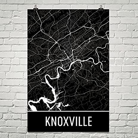 Knoxville poster knoxville art print knoxville wall art knoxville map knoxville city