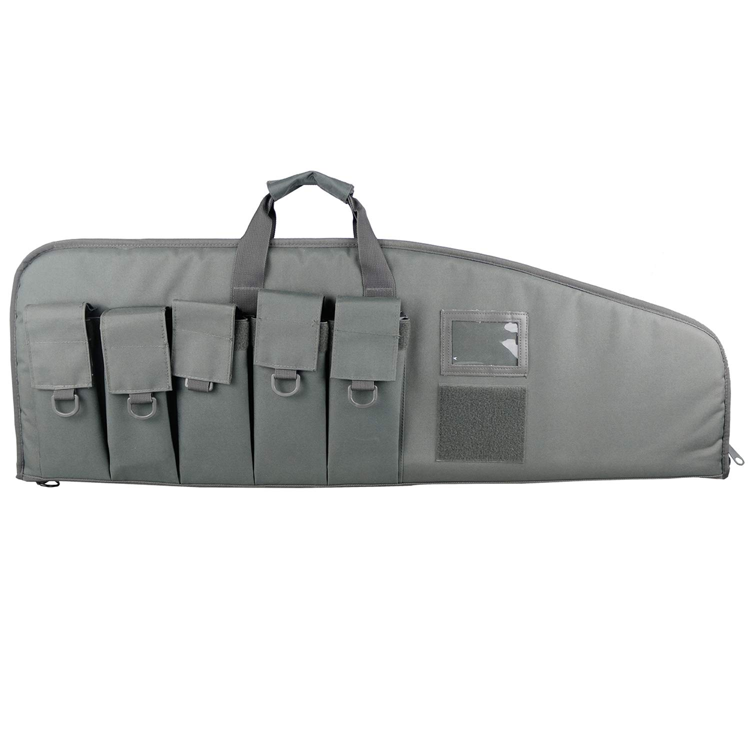 XWLSPORT Gun Case Tactical Assault Rifle Case Heavy Duty Rifle Bag for AR15/M4 with 5 Magazine Pouches (Gray, 42) ... by XWLSPORT