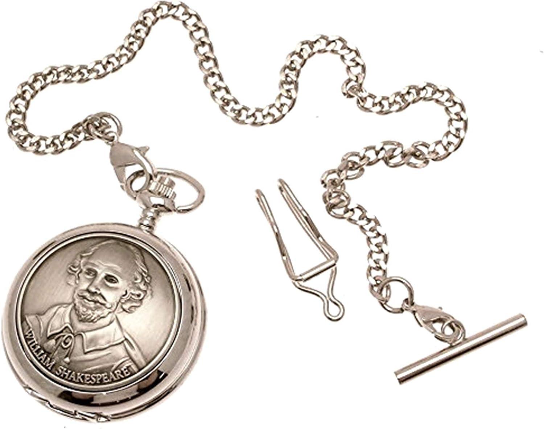Reloj de Bolsillo de Cuarzo Reloj de Bolsillo–sólido Peltre Fronted–William Shakespeare diseño 57