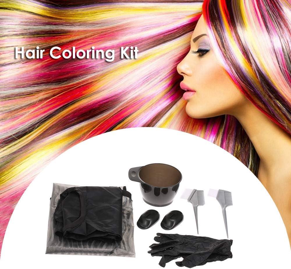 Anself Para pintar el cabello y el color, kit para teñir, pincel para teñir el tazón, delantal, oreja, guantes, herramienta para colorear