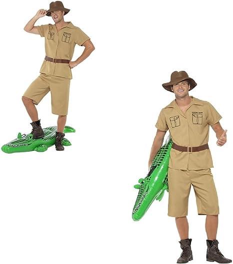 Disfraz de hombre de safari para adultos, disfraz de frank Steve ...