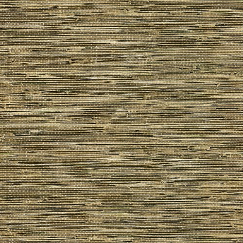 Brewster 412-44141 20.5-Inch by 396-Inch Faux Grasscloth - Textured Depth Wallpaper, Black