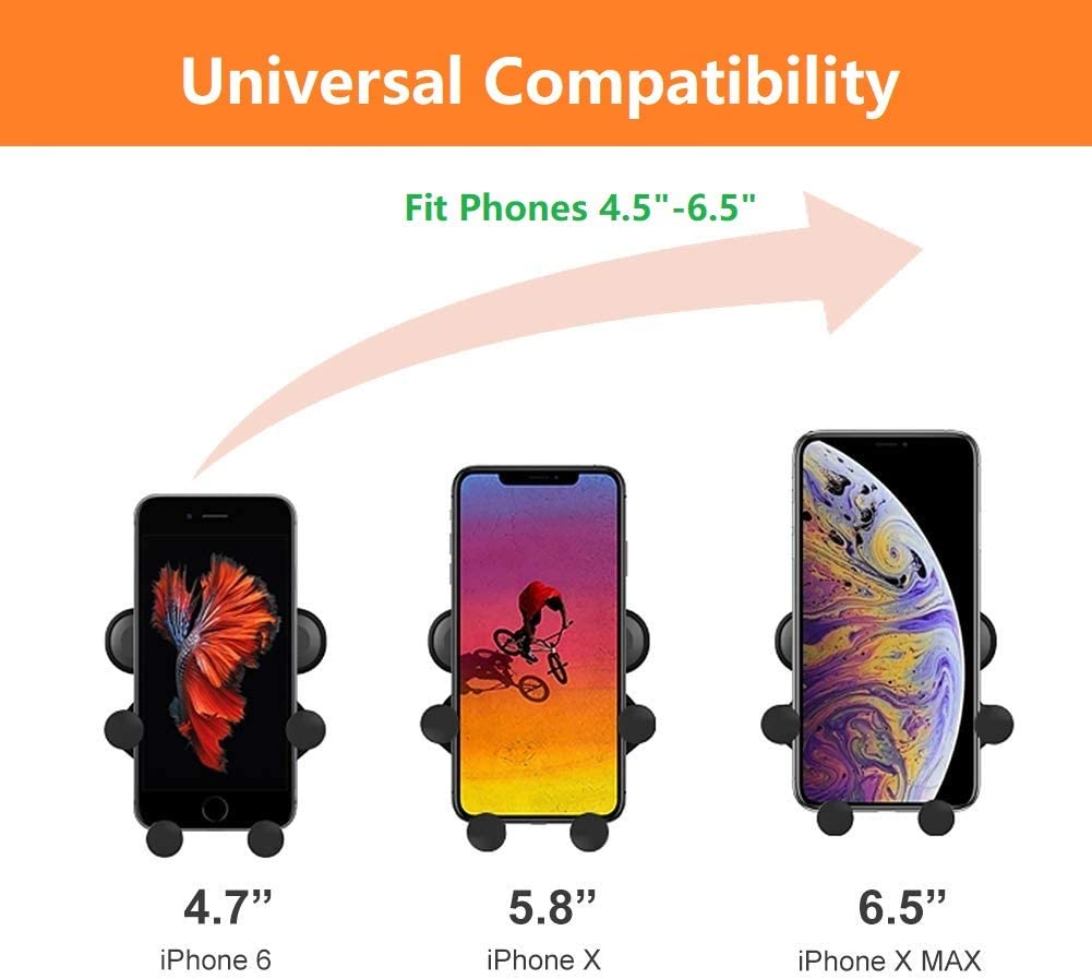 Car Cell Phone Mount Holder Android Smartphones Samsung Air Vent Gravity Universal Phone Holder Compatible with iPhone Huawei