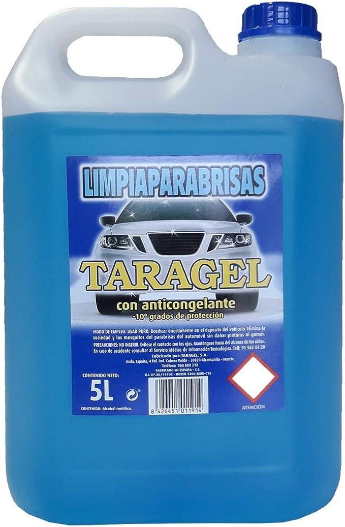 TARAGEL - LIMPIAPARABRISAS quita-Insectos y suciedad -10 Grados (5Litros): Amazon.es: Hogar