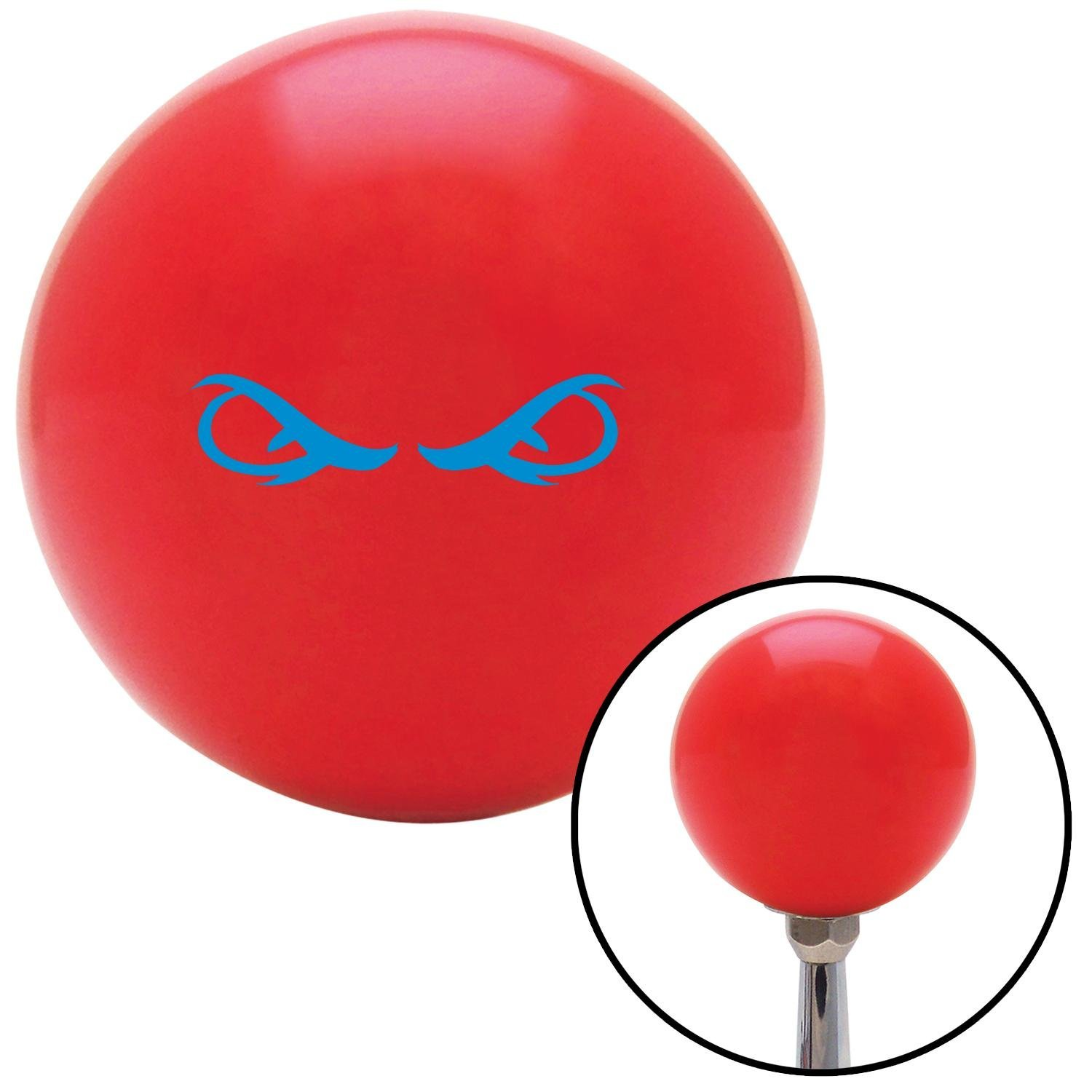 American Shifter 94989 Red Shift Knob with M16 x 1.5 Insert Blue Creepy Eyes