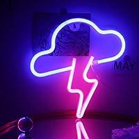 Lightning Cloud Neon Sign Led Muur Neon Signs USB/Batterij Neon Licht Opknoping Zachte Nachtverlichting voor Kids Kamer…