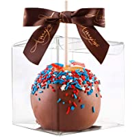 """Thalia 30 Pcs Candy Apple Box with Hole Top, PET Clear Box, Transparent Boxes, Clear Gift Boxes for Caramel Apples, Ornaments, Treats, Party Favors, 4"""" L x 4"""" W x 4"""" H"""