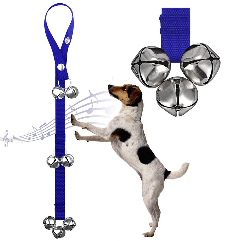Paquete de 2 timbres para adiestramiento de perros, timbres para mascotas con campanas extra fuertes para el entrenamiento en el hogar, entrenamiento para ...