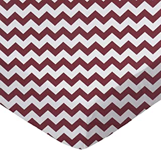 product image for SheetWorld Fitted Cradle Sheet - Burgundy Chevron Zigzag - Made In USA