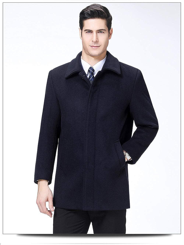 Cappotto in Cashmere, Squisito papà alla Moda, Cappotto in Lana con Risvolto, Cappotto in Lana di Mezza età Marina Militare