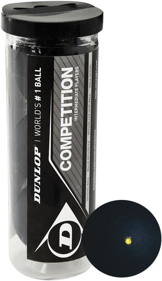 tubo de pelotas para squash Single Yellow Dot x 3