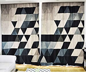 XUEER Blackout Curtain,Personality Creative/Geometric/Curtain,Bedroom/Living Room/Balcony/Insulation Curtain,1pcs