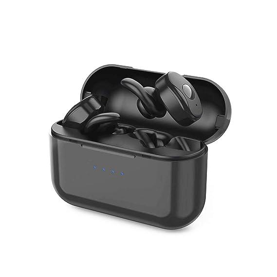 8989e5b8ff5 True Wireless Earbuds, Parihy Bluetooth Headphones Wireless Sports  Sweat-Proof Earphones, Mini Deep