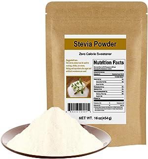 CCnature Stevia Powder Extract Natural Sweetener Zero Calorie Sugar Substitute 16 oz