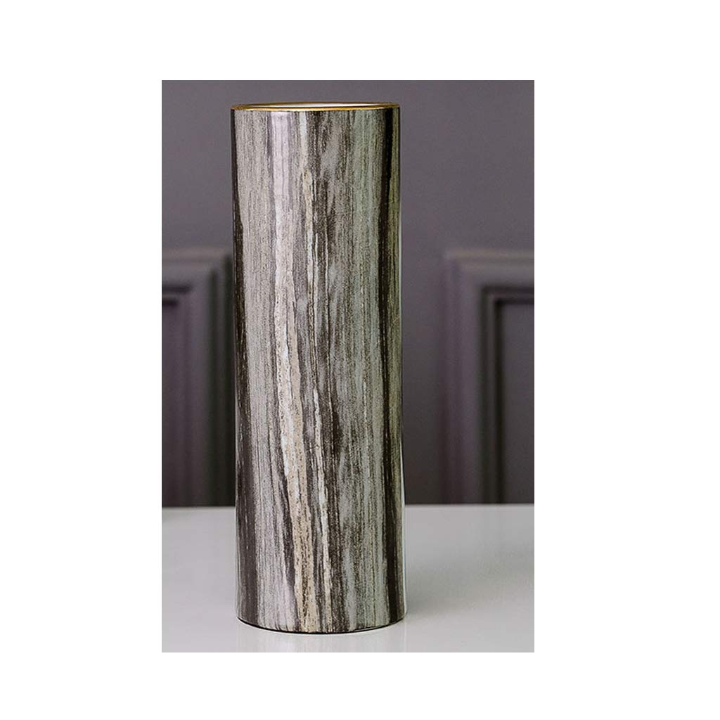 HBJP セラミック花瓶家工芸品花瓶装飾デスクトップストレート花瓶装飾 花瓶 (サイズ さいず : 10cm×30cm) B07SCQGYJ6  10cm×30cm