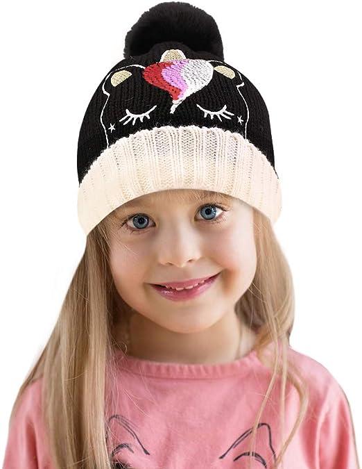 2 Pcs Kids Hat Winter Warm Boys Girls Cap Star Beanie Cute Hats