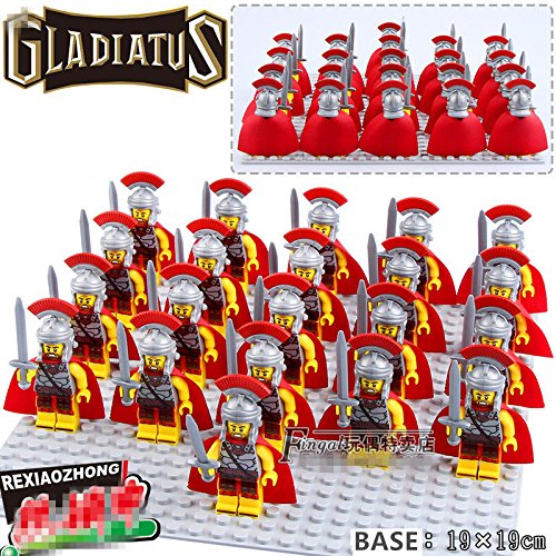 [JIREZON 21pcs Series 10 Gladiatus Roman Commander Team Blocks DIY Minifigures Toys Gifts] (Cheap Indiana Jones Costumes)