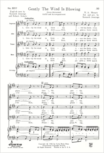 Gently The Wind is Blowing (SATB and Accompaniment) (No. 8017) Sheet music – 1980