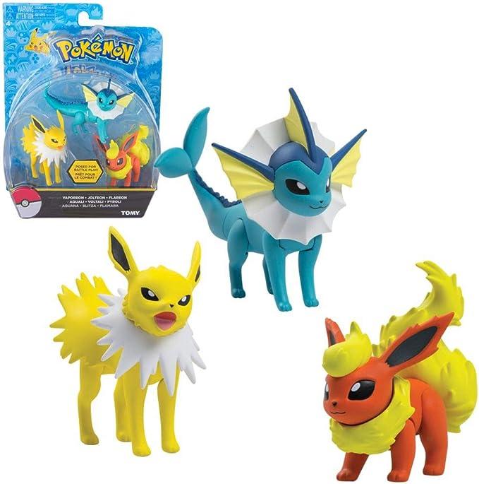 TOMY Vaporeon, Jolteon & Flareon | 3-Pack Figuras de Acción | Pokemon: Amazon.es: Juguetes y juegos