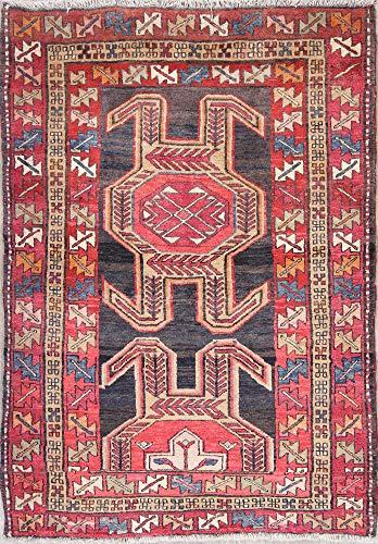 Rug Source One-of-A-Kind Meshkin Handmade 4x5 Red Wool Persian Oriental Area Rug (5' 5