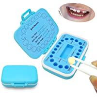 Baby Fairy Tooth Box,PP Teeth Boxes, Teeth Storage Box, Saver Box for Lost Tooth Children,Kids Keepsake Organizer Baby Teeth and Hair, Baby Shower& Birthday Gift (Blue)