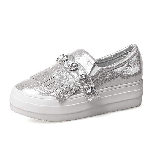 Amazon.com: XDH-RTS Zapatillas de moda para mujer con parte ...