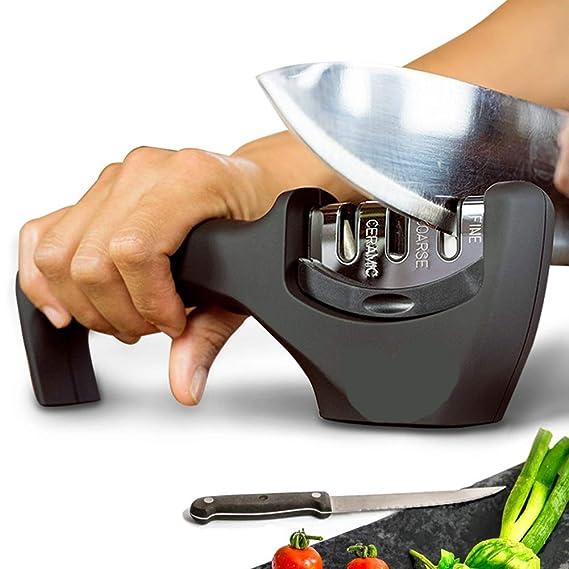 Amazon.com: Afilador de cuchillos de 3 etapas profesional de ...